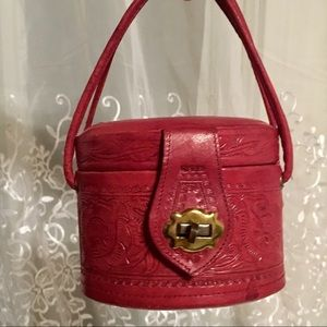 Handbags - Cutie Pie Red Tooled Leather Bag